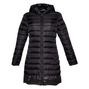 Giacca trapuntata da donna con cappuccio bata, nero, 979-6643 - 13