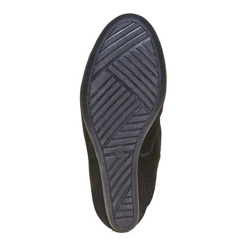 Scarpe da donna in pelle alla caviglia bata, nero, 793-6618 - 26
