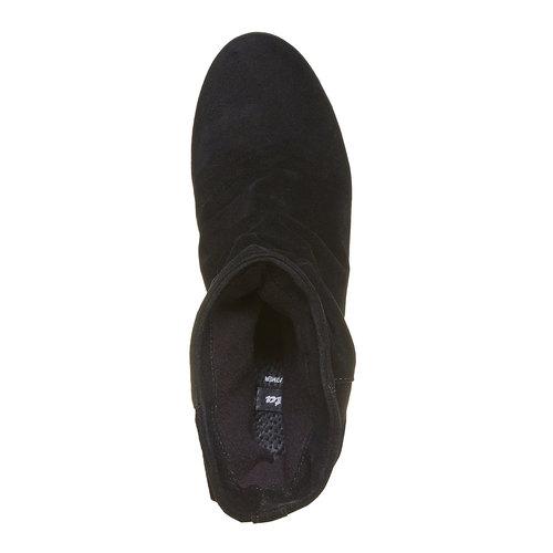 Scarpe da donna in pelle alla caviglia bata, nero, 793-6618 - 19