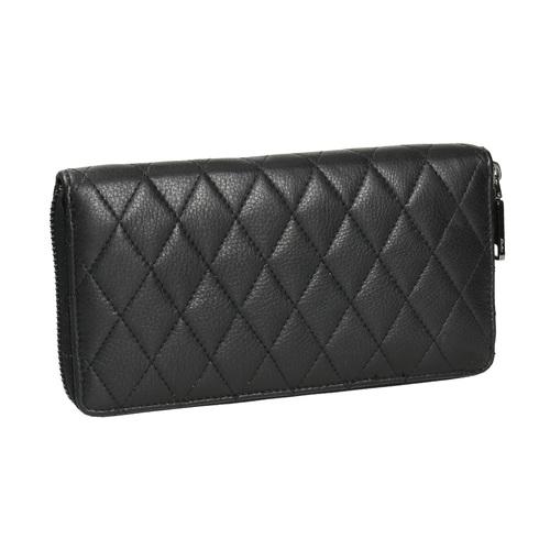 Portafoglio da donna in pelle con cuciture bata, nero, 944-6164 - 13