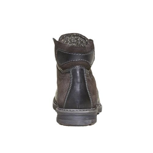 Scarpe di pelle alla caviglia da uomo bata, nero, 896-6687 - 17
