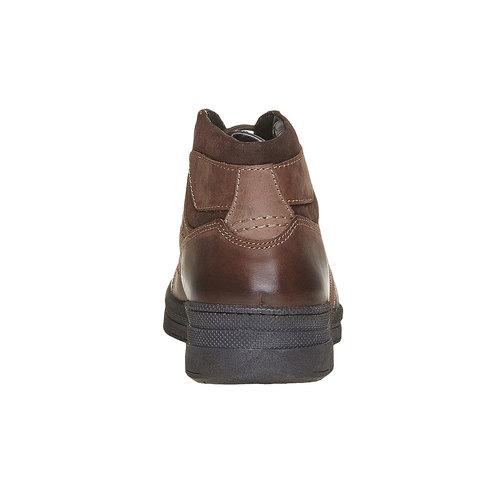 Scarpe in pelle da uomo alla caviglia bata, marrone, 896-4638 - 17