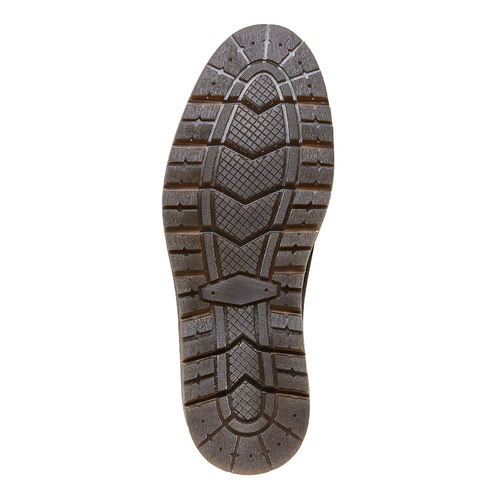 Scarpe di pelle alla caviglia bata, marrone, 894-4271 - 26