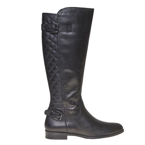 Stivali di pelle con cuciture bata, nero, 594-6525 - 15