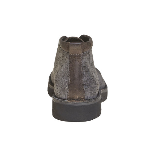 Scarpe in pelle alla caviglia bata, grigio, 894-2519 - 17