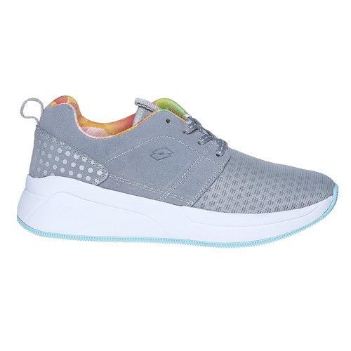 Sneakers da donna con suola ampia lotto, grigio, 509-2157 - 15