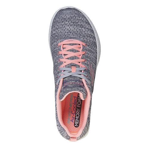 Sneakers da donna con motivo skechers, grigio, 509-2354 - 19