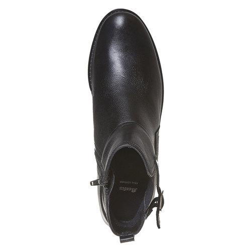 Stivaletti in pelle alla caviglia sundrops, nero, 594-6558 - 19