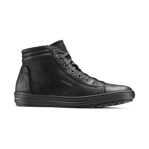 Sneakers da uomo in pelle bata, nero, 894-6295 - 13