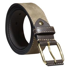 Cintura in pelle da uomo bata, grigio, 954-2183 - 13