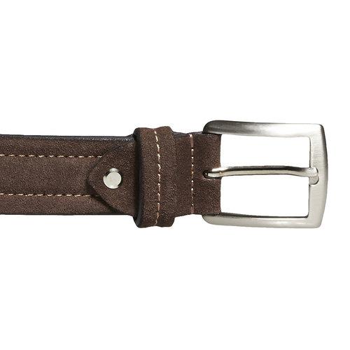 Cintura in pelle da uomo bata, marrone, 953-4104 - 26