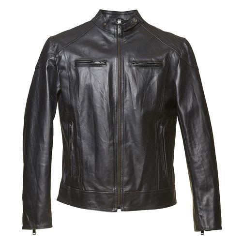 Giacca da uomo in pelle bata, nero, 974-6144 - 13