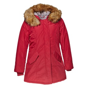 Parka donna con cappuccio e eco-fur bata, rosso, 979-5648 - 13