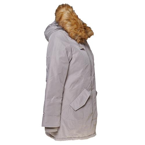 Parka donna con cappuccio e eco-fur bata, grigio, 979-2648 - 16