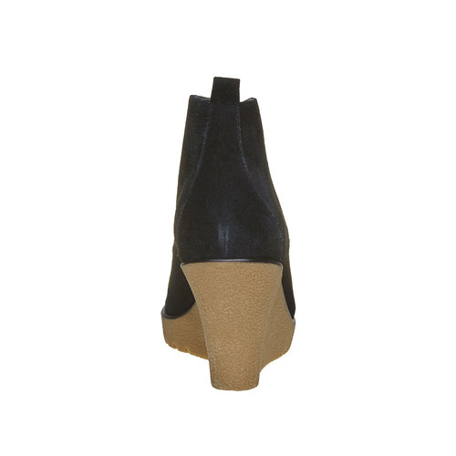Scarpe da donna in pelle alla caviglia bata, nero, 793-6594 - 17