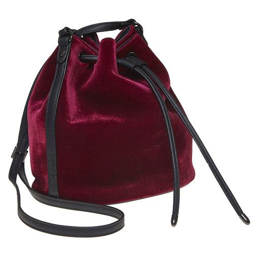 Borsetta in velluto in stile Bucket Bag bata, rosso, 969-5319 - 13