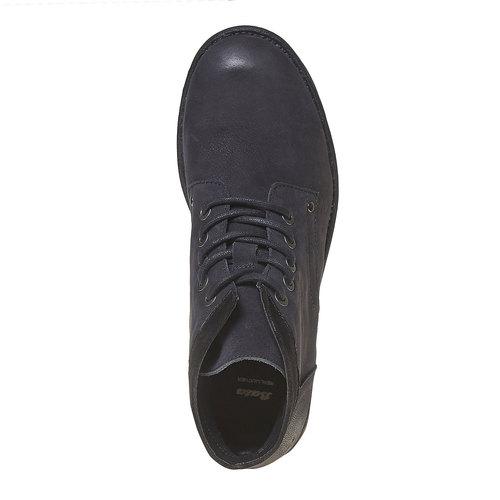 Scarpe da uomo in pelle sopra la caviglia bata, nero, 896-6704 - 19