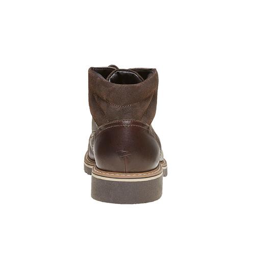 Scarpe di pelle alla caviglia bata, marrone, 894-4561 - 17