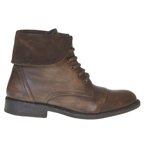Scarpe da donna alla caviglia in pelle bata, marrone, 594-4450 - 15