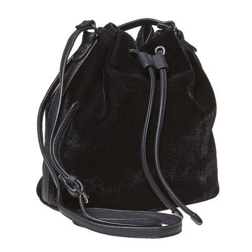 Borsetta in velluto in stile Bucket Bag bata, nero, 969-6319 - 13