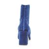 Stivaletti di velluto bata, blu, 799-9643 - 17