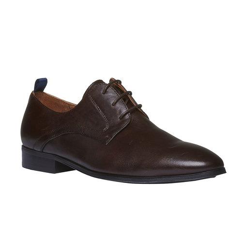 Scarpe stringate di pelle in stile Derby bata, marrone, 824-4673 - 13