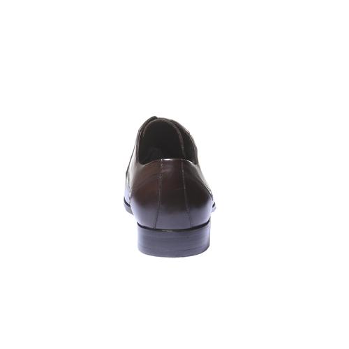 Scarpe basse di pelle in stile Derby bata, marrone, 824-4548 - 17