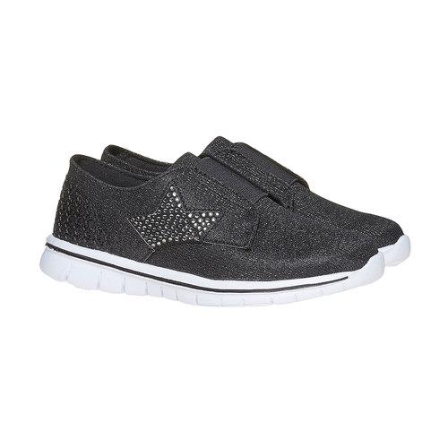 Sneakers argentate da ragazza mini-b, grigio, 329-6214 - 26