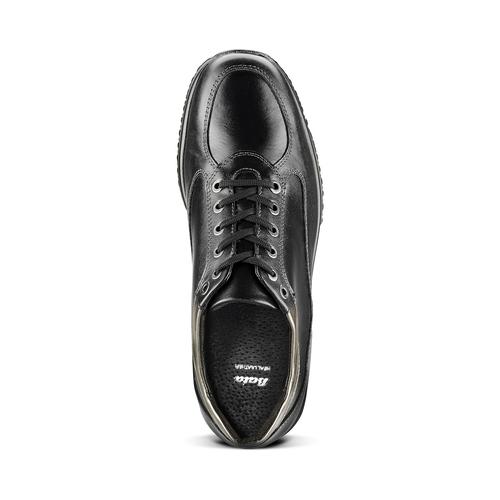 Sneakers informali in pelle bata, nero, 524-6248 - 15