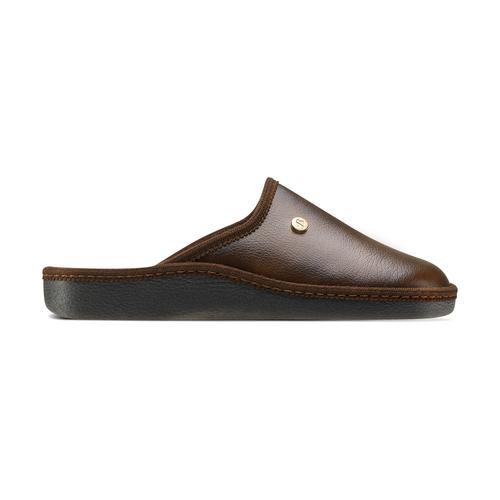 Pantofole da uomo con punta chiusa bata, marrone, 871-4304 - 26