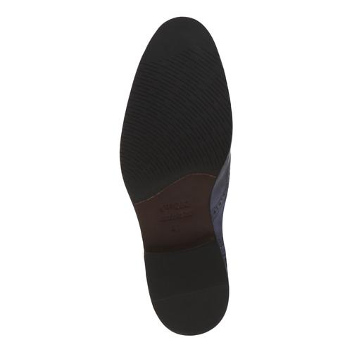 Oxford di pelle bata-the-shoemaker, blu, 824-9594 - 18