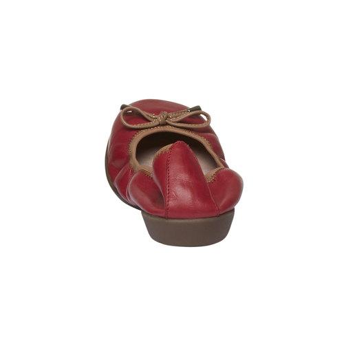 Ballerine rosse di pelle bata, rosso, 524-5485 - 17