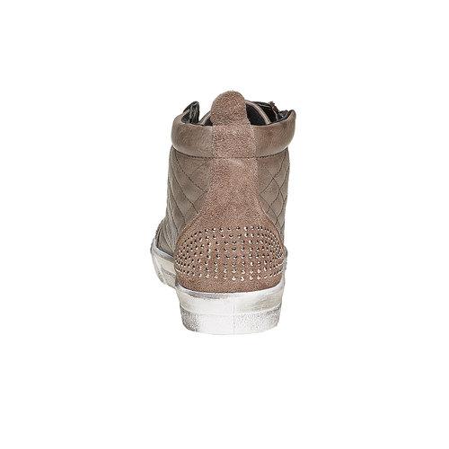 Sneakers alla caviglia con cuciture north-star, grigio, 543-2127 - 17