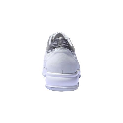 Scarpe sportive in pelle da donna bata, bianco, 526-1248 - 17