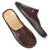 Pantofole da uomo bata, marrone, 871-4304 - 19