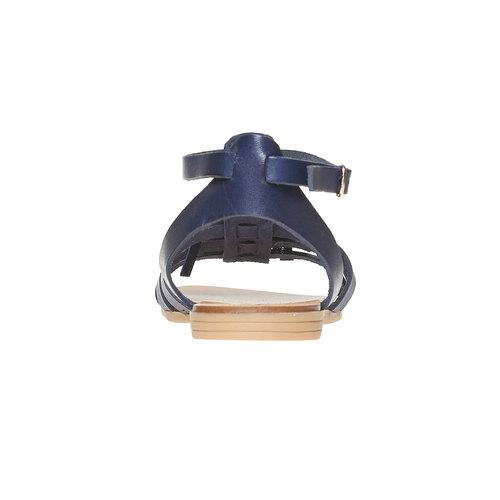 Sandali da bambina con cinturino in pelle alla caviglia mini-b, viola, 364-9190 - 17