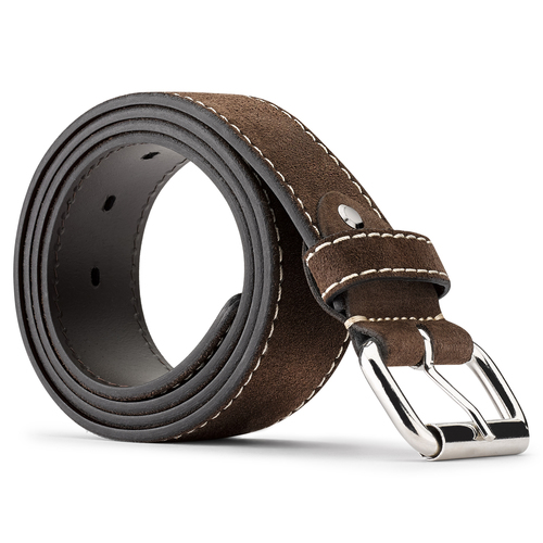 Cintura in suede bata, marrone, 953-4106 - 26
