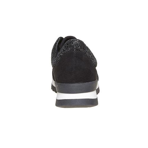 Sneakers nere da donna con glitter north-star, nero, 549-6262 - 17