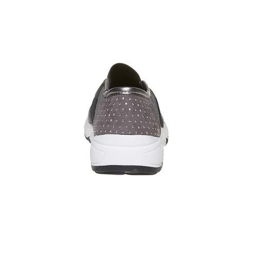 Slip-on da bambina con borchie mini-b, grigio, 329-2218 - 17