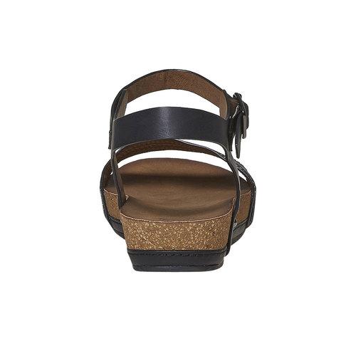 Sandali da donna dalla suola appariscente bata, nero, 561-6404 - 17