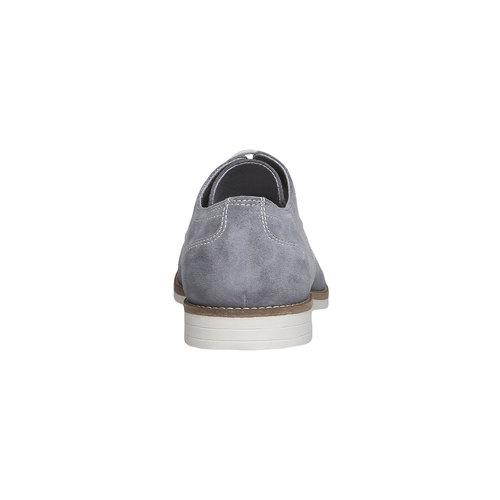 Scarpe basse di pelle in stile Derby bata, grigio, 823-2558 - 17