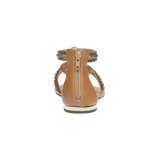 Sandali da donna con strisce decorate bata, marrone, 561-3330 - 17