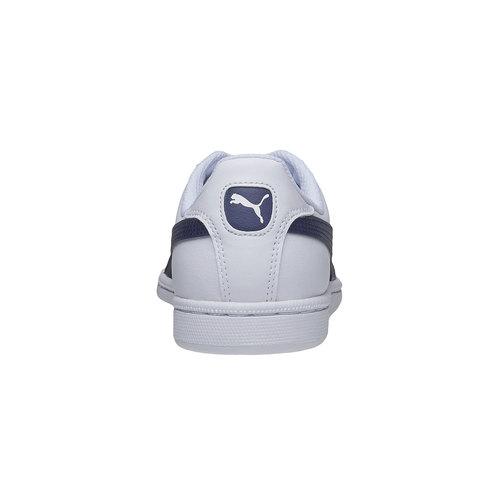 Sneakers bianche di pelle puma, bianco, 804-1151 - 17