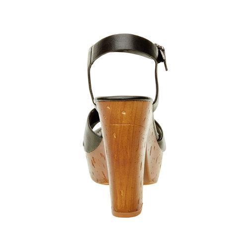 Sandali con tacco massiccio bata, nero, 761-6500 - 17