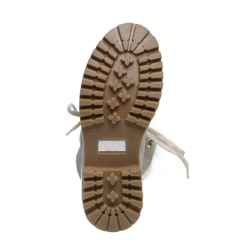 Scarpe in pelle con suola a carrarmato weinbrenner, bianco, 596-1883 - 18