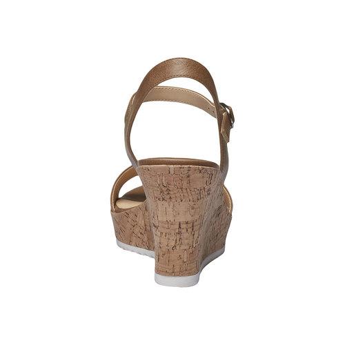 Sandali da donna con plateau bata, marrone, 761-4523 - 17