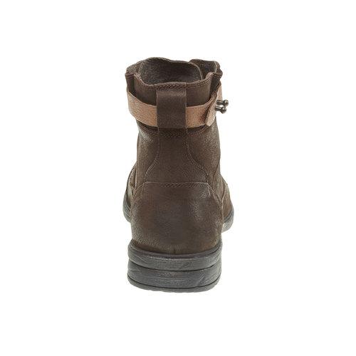 Scarpe di pelle alla caviglia bata, marrone, 894-4165 - 17