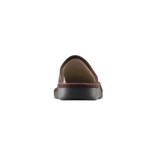 Pantofole da uomo con punta chiusa bata, marrone, 871-4304 - 16