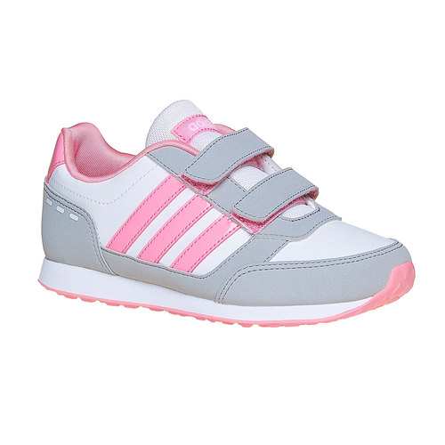Sneakers rosa da ragazza adidas, bianco, 301-1113 - 13