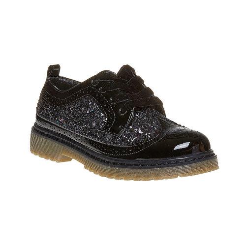 Scarpe basse da bambina con glitter mini-b, nero, 329-6221 - 13